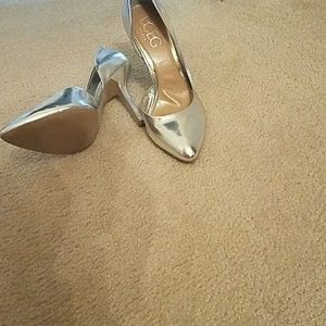 Silver Bcbg heels